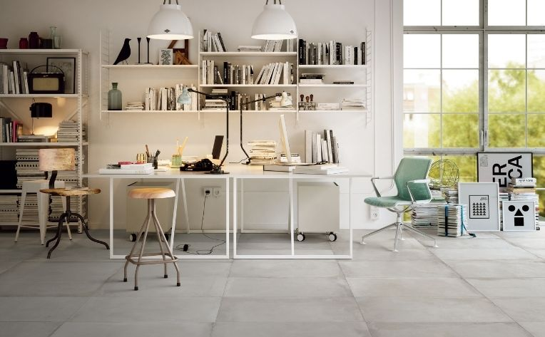 Home Office Tile Flooring Blog Image